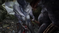 Skyrim Warframe Saryn and Rat Man next