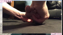 ENSEXY1: Foot Worship & Cumshot for Hotwife - Humilation for Cuckold