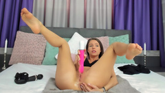 _nastya - Busty Babe Fucks her pussy to gushing SQUIRT/Pee