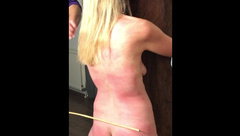 Painslut Sex Slave is Tied, Spanked, Caned & Severely Marked by her Master