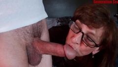 MILF Sucks Big Dick Oral Creampie Laundromat Hook UP JIZZ