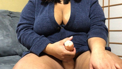 BBW Teen Strokes her Cock and Cums (shemale/futanari Roleplay)