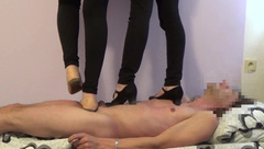 Trampling Party High Heels & Barefoot Trample Dance Stomp with Young Girls