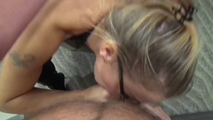 Sucking my Man's Fat Cock till he Explodes and Cums on me (version 2.0)