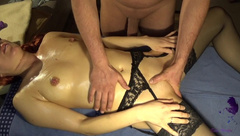 Sensual Massage, Anal Training with Plug and Orgasm