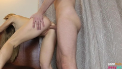 Blond Teen Loves to get her Ass Fucked and has many Anal Orgasms . much Cum