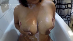 Pathetic Needy Stepson needs Mommys help in the Bath Taboo. HD Custom