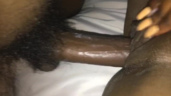 YOUNG BLACK COUPLE FUCKING ON SNAPCHAT