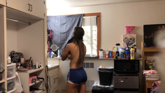 Hidden Camera on College Athlete! getting Undressed in Dorm!