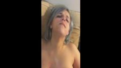 Big Tits Silver Haired Girl Squirts for Master