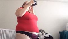 Throwback BBW Feedee Mentos and Coke Belly Bloat