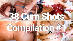 38 CUM SHOTS: COMPILATION #1 - MILF MOM MATURE TAKES HUGE CUM SHOTS