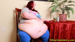 Bloated Pop Belly Burps - SSBBW Expands her Fat Belly to Belch for you