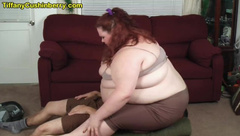 430 Pound Ass Smothering in Spandex - SSBBW Facesits Skinny Guy under her