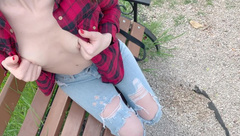 Blowjob in Public in the Park-sweet Girl Swallows my Sperm