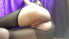 Pretty Student Fucked Wet Pussy by Tearing Pantyhose