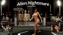 3D Girl vs Aliens - Alien Nightmare - Comix