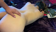 Teen with Perfect Ass gets Creampie Quickie out of Shower