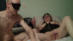 Amateur Couple Smoking, Fingering, Fucking, and Pegging