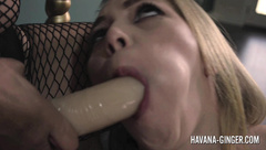 Havana Ginger fucks Angel Smalls with a strapon dildo