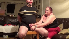 Chair Tie Torture - with Cruel Polishing Post Orgasm Torture Part 1 of 2