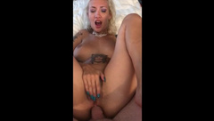 KinkyGoddesses Deepthroats and Takes it up the Ass Pushes out Anal Creampie