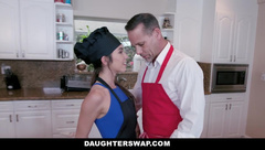 DaughterSwap - Hot Teen Daughters Fucked while Dad Watches