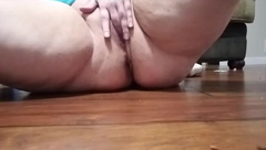 BBW Moxie Shakes her Huge Tits and Fucks herself through Lace Panties
