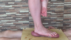 Barefeet Cock and Balls Crush - CBT Trample