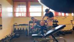 Public Gym Fuck with Hung Power Lifter who Touched my Pussy