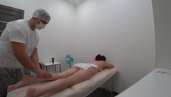 Foot and Fingers Massage, Hot Blowjob from Client with ending on it