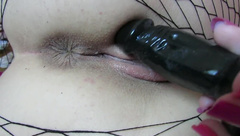 Wet Pussy Teasing with Tight Asshole