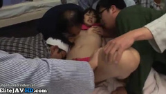 Japanese nurse rough gangbang with horny patients
