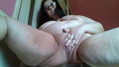 Watch BBW MoxieMumbles Finger Fuck her Tight Pussy till she Creams